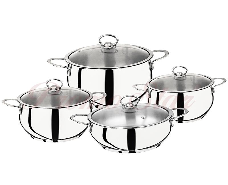 Bergama Cooking Pot Set – 8 Pieces