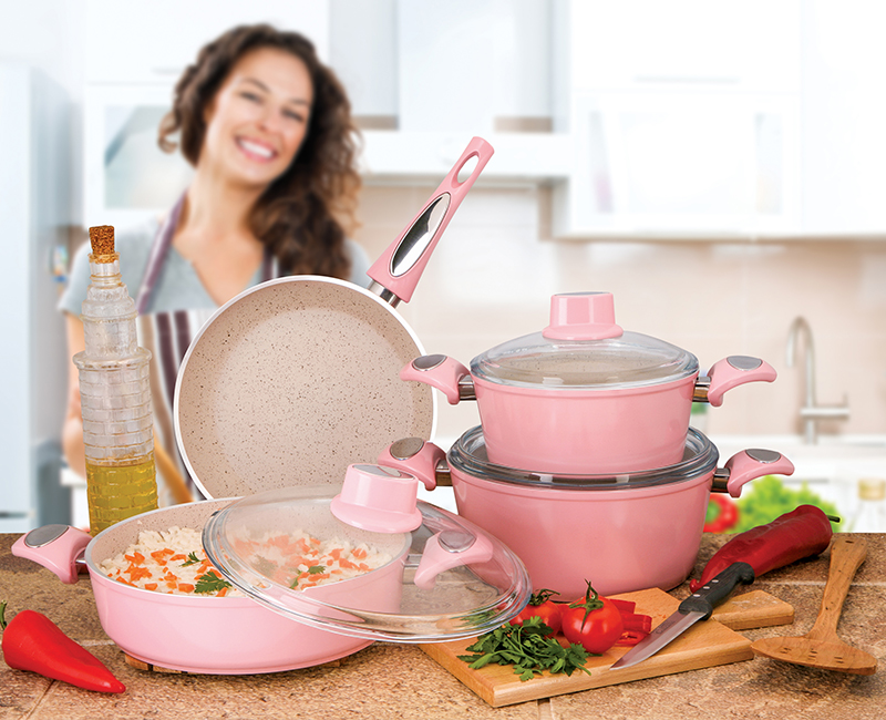 Granite Cooking Pot Set – 7 Pieces