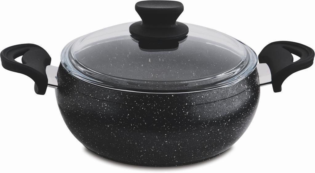 20 cm Granite Deep Cooking Pot