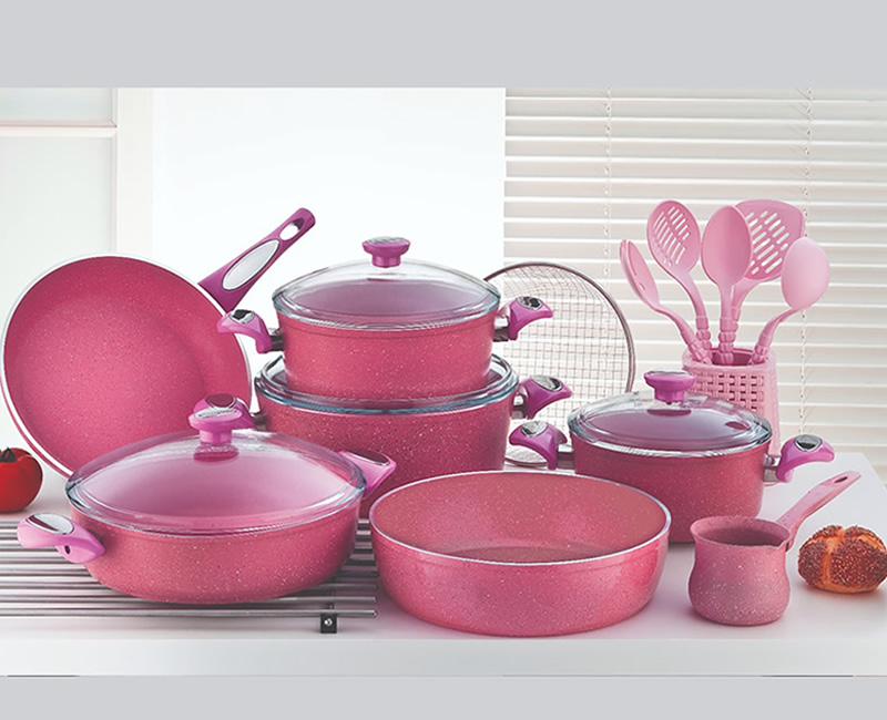 19 PİECES GRANİTE COOKWARE SET